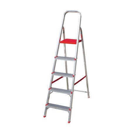 Escada Aluminio Botafogo 5 Degraus