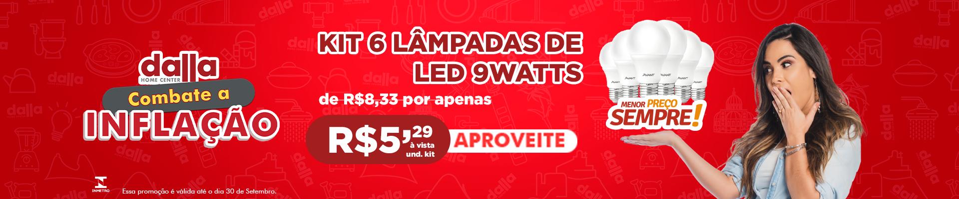 Kit 6 Lampadas