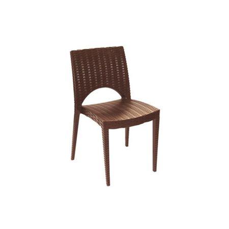 Cadeira Plasutil Casabella 6071 Rattan Marrom